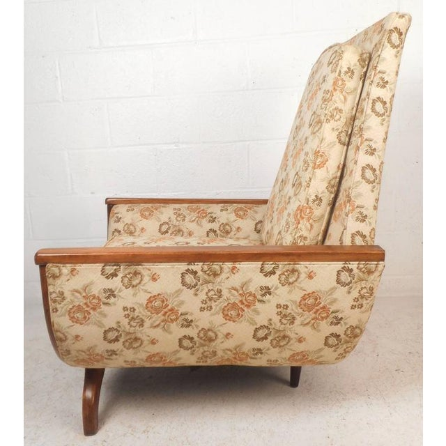 Mid-Century Modern Adrian Pearsall Style Mid-Century Modern High Back Lounge Chair For Sale - Image 3 of 10