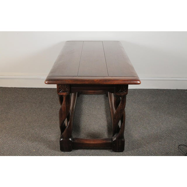 Gothic 1900s Gothic Oak Console Table For Sale - Image 3 of 13