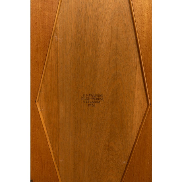 Tan 1961 E. Hoglunds Relief Carved Cabinet For Sale - Image 8 of 11