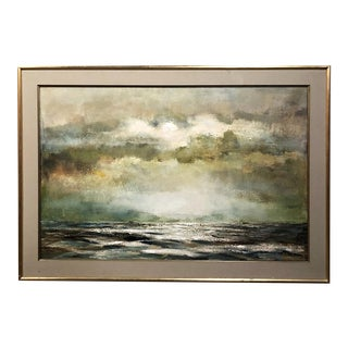 Mid-Century Framed Oil Painting on Canvas by R. Bekaert For Sale