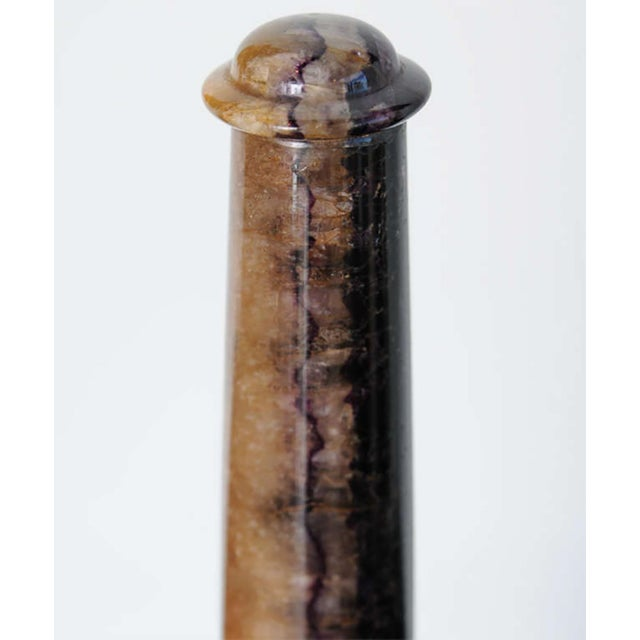 Mid 19th Century Very Fine Pair of Bluejohn and Marmo Negro Columns, England For Sale - Image 5 of 8