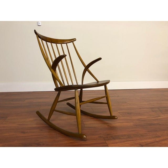 Illum Wikkelso for Niels Eilersen Gyngestol Rocking Chair For Sale - Image 13 of 13
