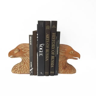 Pair of Italian Carved Wood Bird Head Bookends by Serreid Ltd. Preview