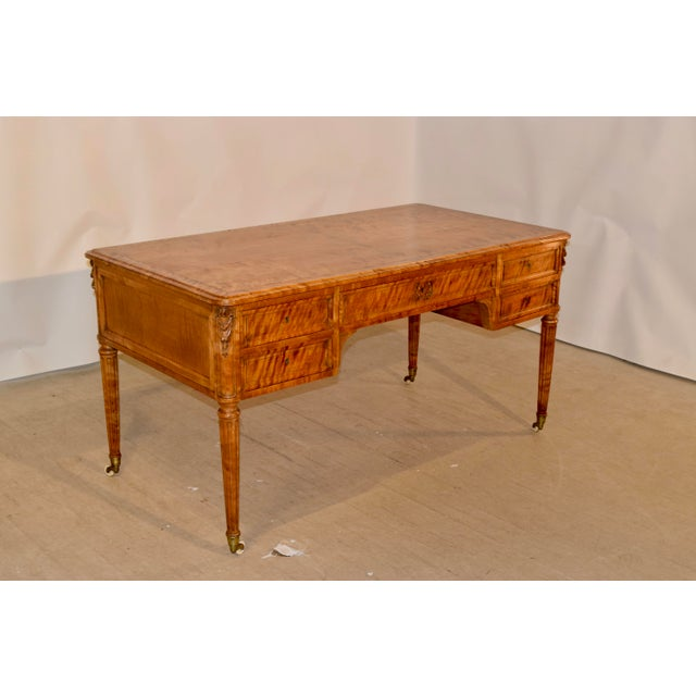 English 19th Century Satin Birch Desk For Sale - Image 3 of 12