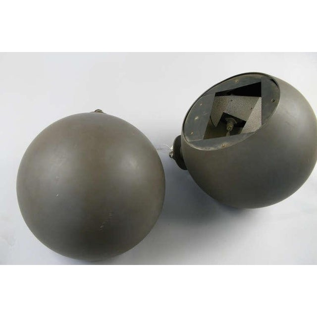Pair of Large Sphere Wall Sconces From Avery Fisher Hall For Sale - Image 4 of 6