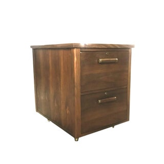 Mid-Century Modern Wood Floating Filing Cabinet Drawers