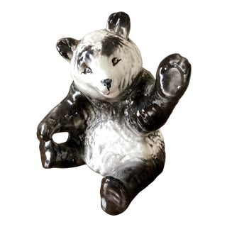 Vintage Italian Ceramic Panda For Sale
