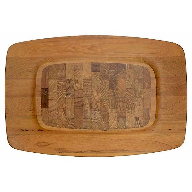 "1960s Mid-Century Modern Jens Quistgaard Dansk 18"" Teak Tray For Sale In Chicago - Image 6 of 6"