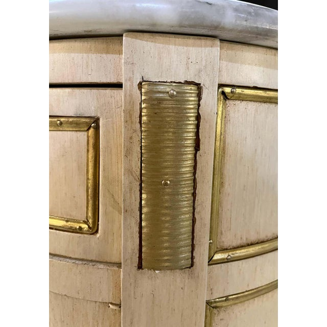 Hollywood Regency Painted End Tables, Nightstands or Pedestals, a Pair For Sale - Image 9 of 13