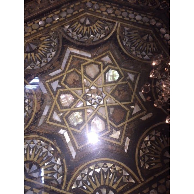 Islamic Vintage Moroccan Octagon Mother of Pearl Inlay Table For Sale - Image 3 of 10