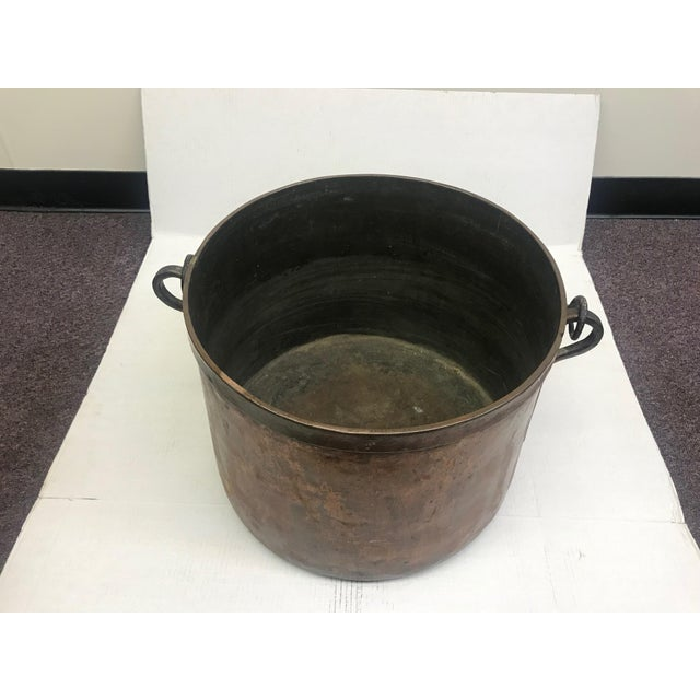 French Rustic Copper Pot For Sale - Image 9 of 11