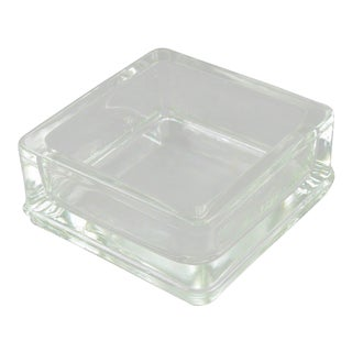 Le Corbusier for Lumax Molded Glass Desk Accessory Ashtray