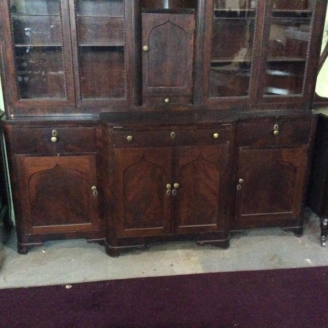 Mid 19th Century Mahogany Classical Gentleman's Secretary Bookcase For Sale - Image 5 of 8