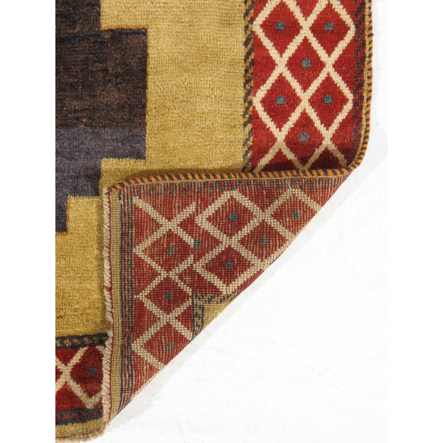 """Traditional Vintage Persian Gabbeh Rug - 4'3"""" x 7'4"""" For Sale - Image 3 of 5"""