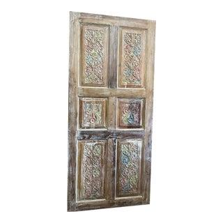 Vintage Carved Farmhouse Door For Sale