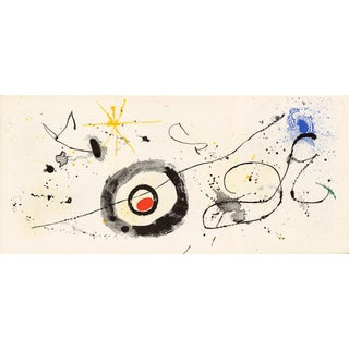 """1963 Lithograph by Joan Miro From """"Derriere Le Miroir No.139-140 (Double Issue) - Miro - Artigas"""" For Sale"""