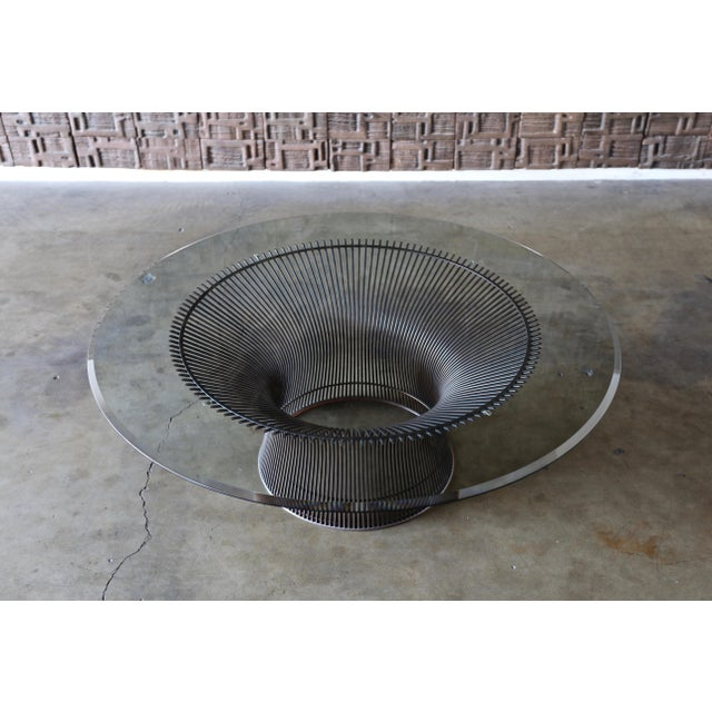 Knoll 1960s Vintage Warren Platner for Knoll Bronze Coffee Table For Sale - Image 4 of 12