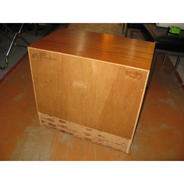 Danish Modern Mid-Century Danish Modern Teak Vinde Mobelfabrik 1-Drawer Nightstand For Sale - Image 3 of 10