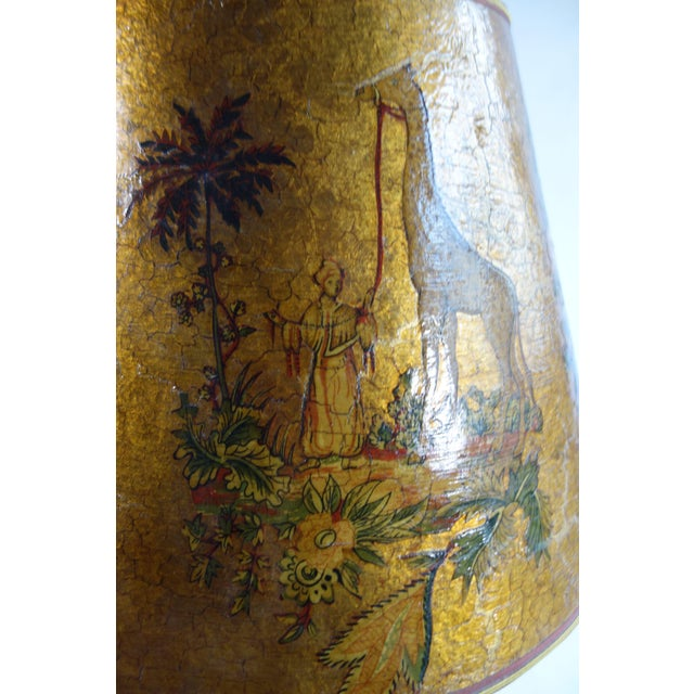 Golden Hand Painted Lamp - Image 8 of 8