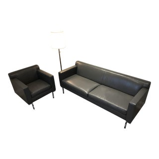 Design Within Reach Theatre Sofa & Armchair For Sale