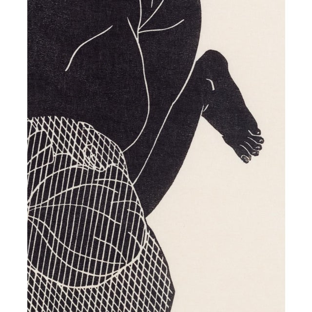 A framed 8 x 10 inch (20 x 25 cm) linocut from Pacific Northwest artist Christian Johnson. Hand printed by the artist on...