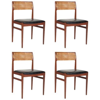 A Set of 4 Model W26 Teak Chairs Designed by Erik Worts For Sale