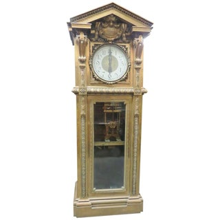 Monumental Unique Singer Sewing Co. Bronze Master Clock For Sale