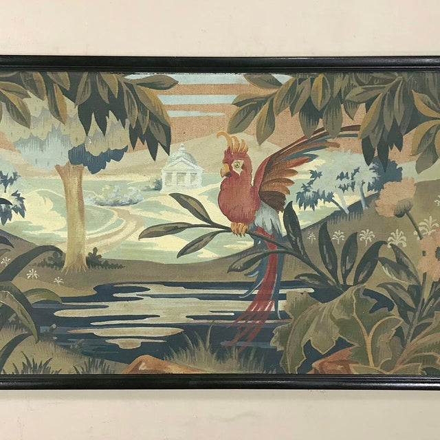 Art Deco Period Flemish Framed Tapestries-a Pair For Sale - Image 9 of 13