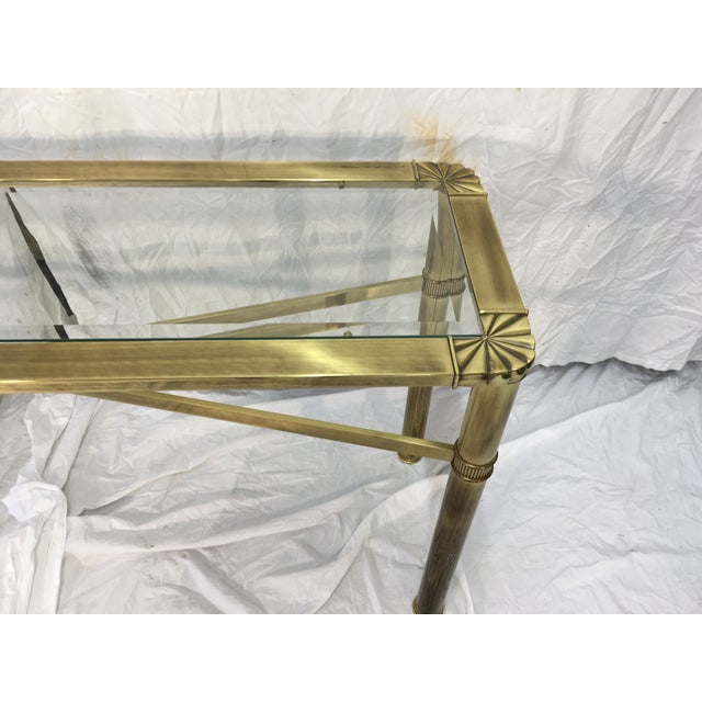 Modernist Brass Console Table - Image 6 of 9