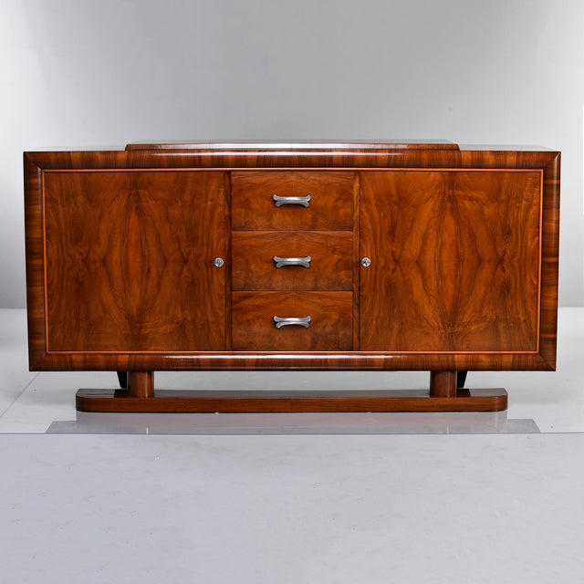 French Art Deco Walnut Sideboard For Sale - Image 13 of 13