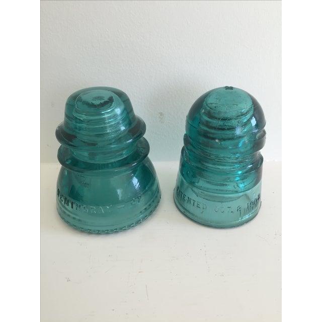 Antique Glass Insulators - Set of 4 - Image 4 of 4