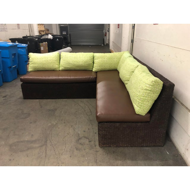 Contemporary Two Piece Sectional From Walter's Wicker Works For Sale - Image 3 of 10