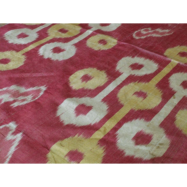 Antique Silk Ikat Panel For Sale - Image 4 of 7