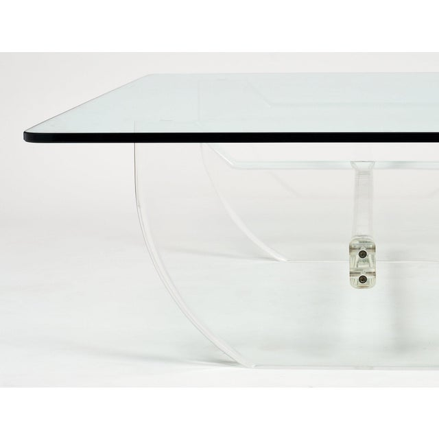 Mid-Century Modern French Modernist Lucite Coffee Table For Sale - Image 3 of 10