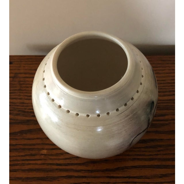 2010s Final Price! Ceramic Signed Pottery Vase For Sale - Image 5 of 8