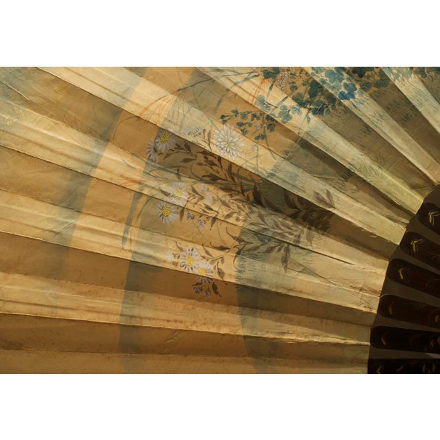 Asian Japanese Monumental Exhibition Quality Folding Fan For Sale - Image 4 of 11