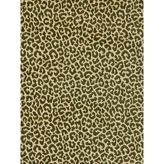 Sample, Scalamandre Panthera Velvet, Moss Fabric For Sale