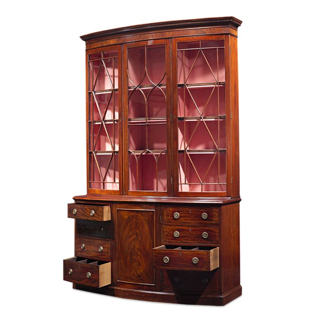 George III Mahogany Breakfront For Sale - Image 4 of 5