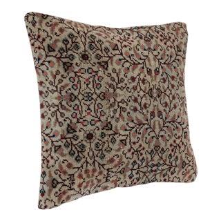 Turkish Flower Design Rug Pillow For Sale