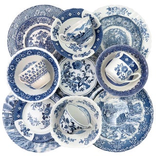 Vintage Mismatched Ironstone China Dinnerware - Service for 4 For Sale