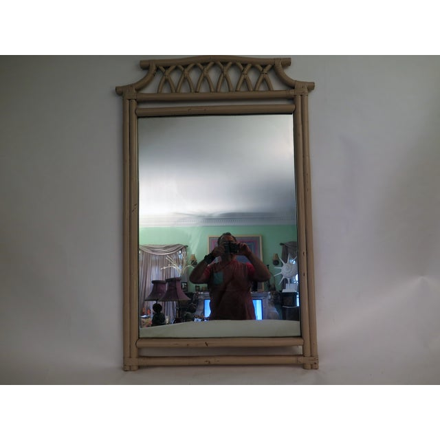 1960s Bamboo Style Mirror For Sale - Image 3 of 3