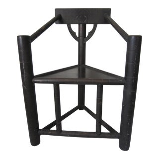 1920s African Ebony Ceremonial Chair For Sale