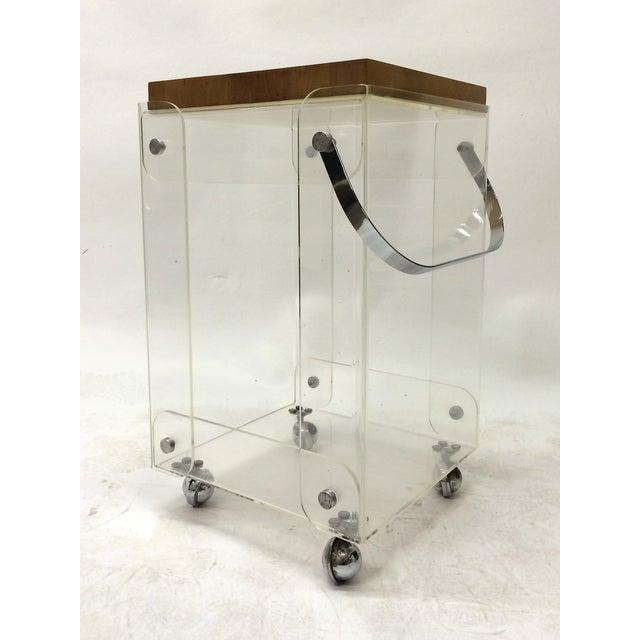 Plexiglass Bar Cart Workstation - Image 2 of 6