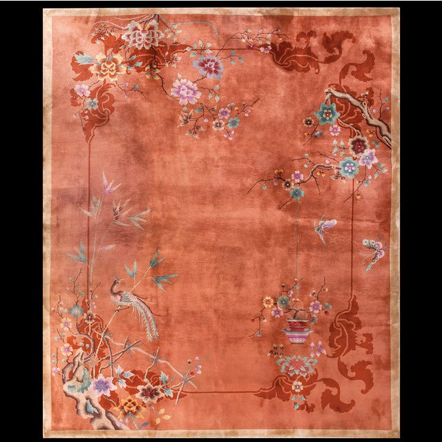 1920s Chinese Art Deco Rug For Sale - Image 5 of 5