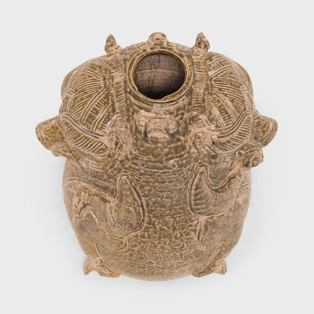 Early 20th Century Early 20th Century Chinese Twin Mythical Jar For Sale - Image 5 of 6