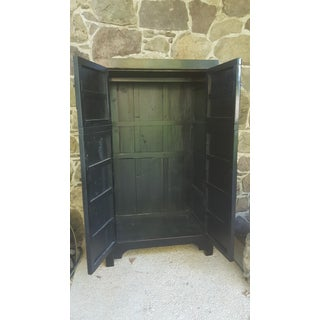 Early 20th Century Antique Black Lacquered Chinoiserie Wardrobe Preview