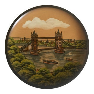 Pfaff Wooden Collectors Plate of London Bridge For Sale