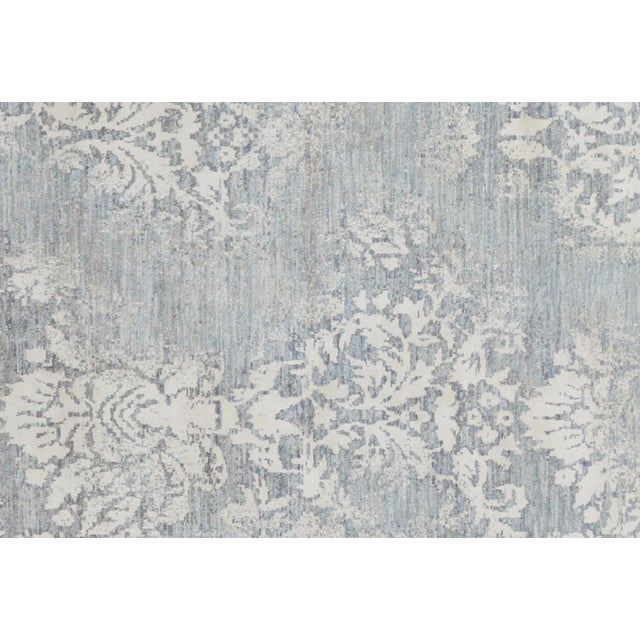 Modern Kafkaz Peshawar Cole Gray & Ivory Wool Rug - 8'1 X 11'7 For Sale - Image 3 of 7