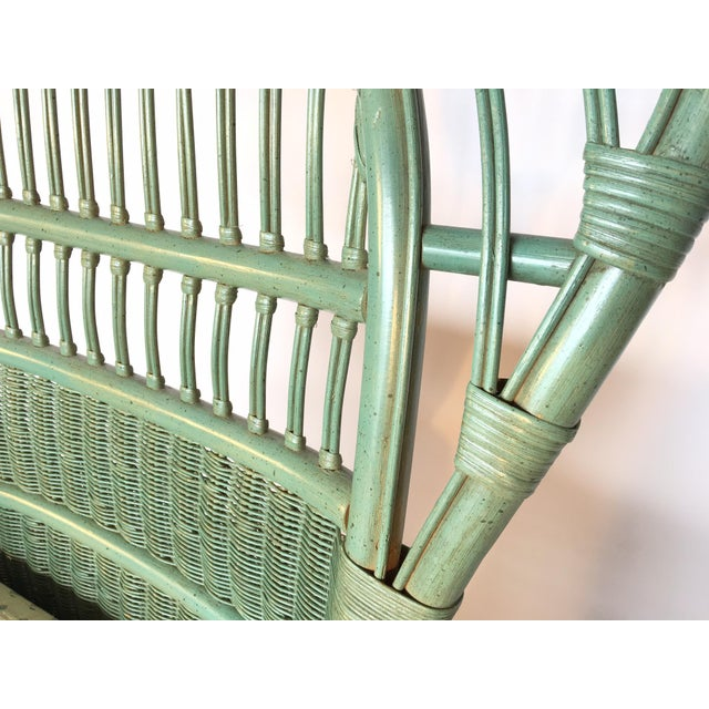 Ficks Reed Rattan Bamboo Fan Back Arm Chair - Image 10 of 11