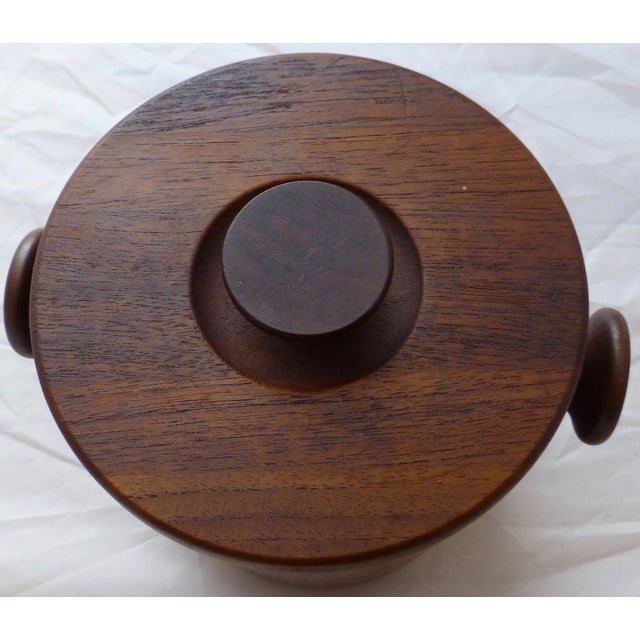 1950's Danish Modern Teak Ice Bucket For Sale - Image 4 of 10